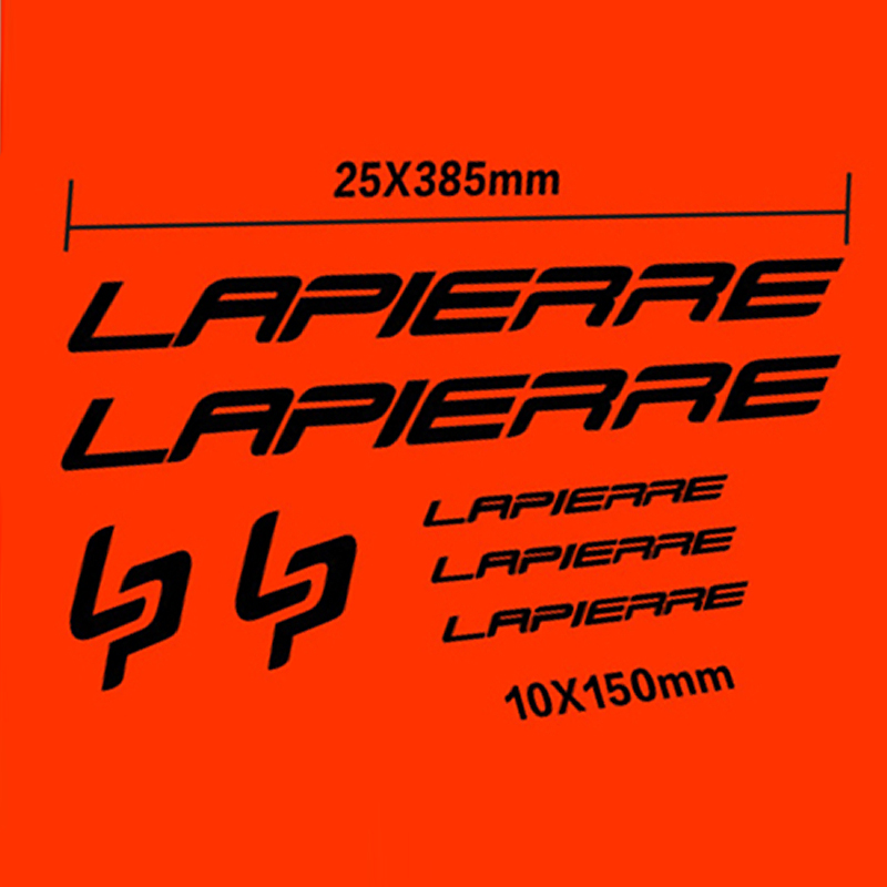 Graphics Bike Frame Decals Cycle Stickers Bike Lapierre Bicycle Decal Set