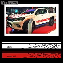 free shipping 1PC off road 4x4 hood graphic vinyl for TOYOTA HILUX REVO VIGO decals