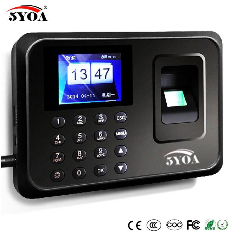5YOA système de présence biométrique lecteur d'empreintes digitales USB horloge Machine de contrôle des employés dispositif électronique