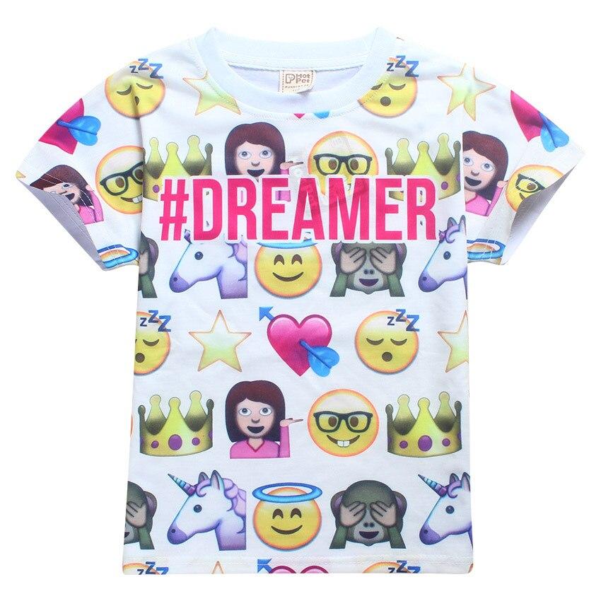 dfd43fac 2017 Kids Emoji Shirt Children Boys Girls Emoji Top Emoji T Shirt QQ Face  Print Tees For Children Boys Girls Summer Tops Baby