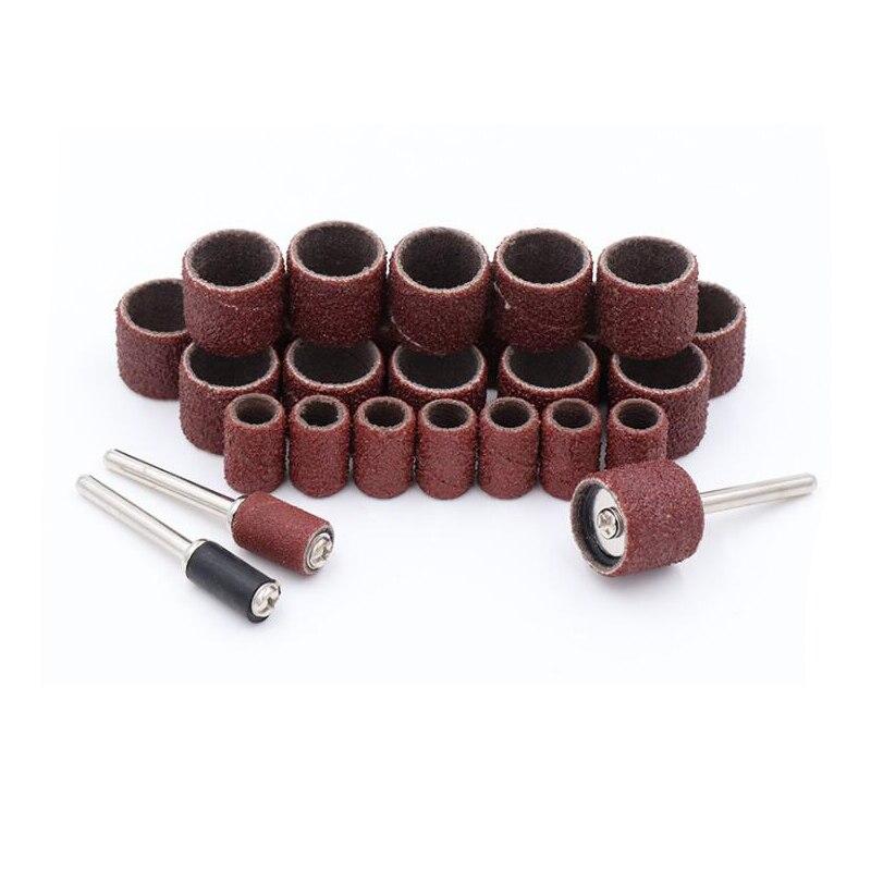 102 Pcs 8mm 15mm Zand Papier Drum Kit 1/8 Inch 3.175mm Shank Rotary Schuren Wiel Voor Dremel Steen Metalen Polijsten Tool Superieure (In) Kwaliteit