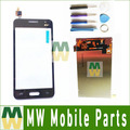 1 pc/lote para samsung galaxy core 2 g355 g355h b0511 touch screen digitizer + lcd screen display com ferramenta de cor preto branco