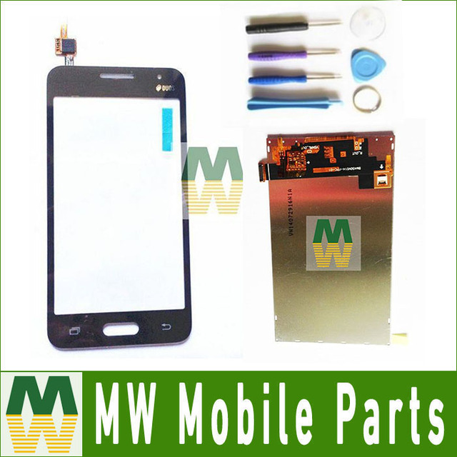 1PC/Lot  For Samsung Galaxy Core 2 G355 G355H B0511 Touch Screen Digitizer+Lcd Display Screen With tool Black White Color