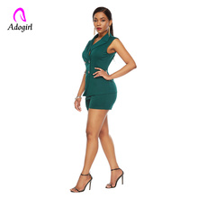 Adogirl Work Ol Suit Female Sleeveless Top and Pant Suit Set Female Coat V Neck Sexy Chic Suit Women Office Set 2 Pieces Outfits