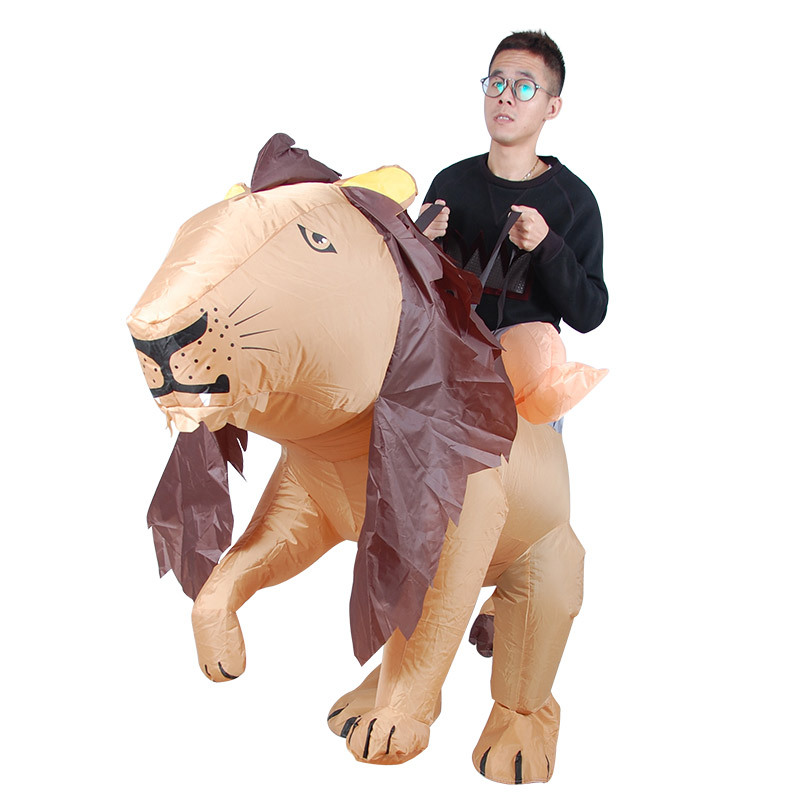 Lion Adult Inflatable Costumes Ride on Toys Cosplay Suits Animal Fancy Dress Halloween Carnival Party Airblown Costume Outfits clown inflatable costumes halloween witch party stage clothes for men women carnival father unisex dress up fancy stuffed toys