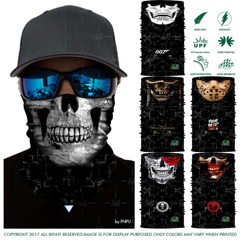 2018 New 3D Designs Magic Cycling Bandana Human Face Multifunctional Headband Logan Vampire Skull Outdoor Magic Seamless Bandana