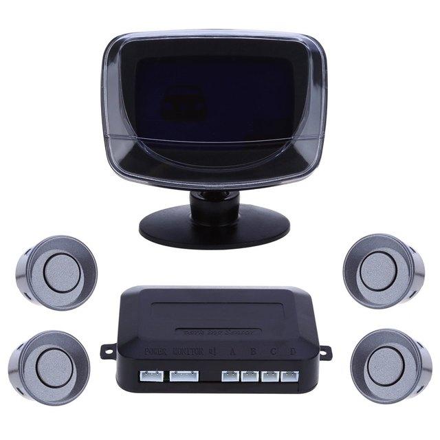 Car Parking Sensor Reverse Backup Radar LCD Display 12V 4 Sensors 22mm Buzzer Auto Detector System Kit for All Cars