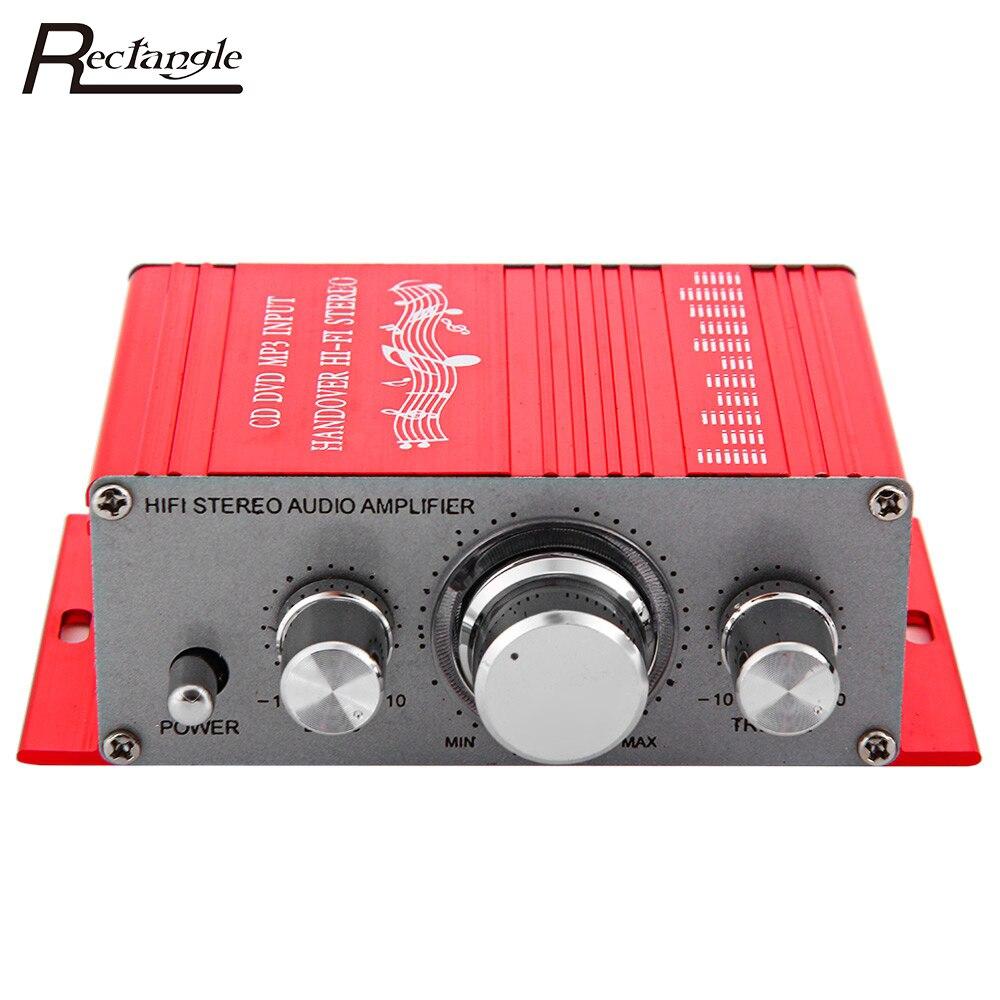 12 V Hallo-fi Auto Verstärker Subwoofer Musik-player Aluminium Auto Digital Stereo Verstärker 2 Kanal Audio Player CD DVD MP3 eingang