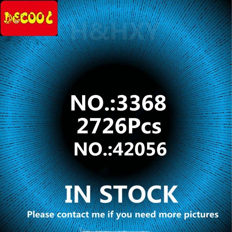 DHL DECOOL en STOCK 2726 pièces 3368 technic série voiture modèle Kits de construction blocs jouets briques galvanisé pneu 42056 20001