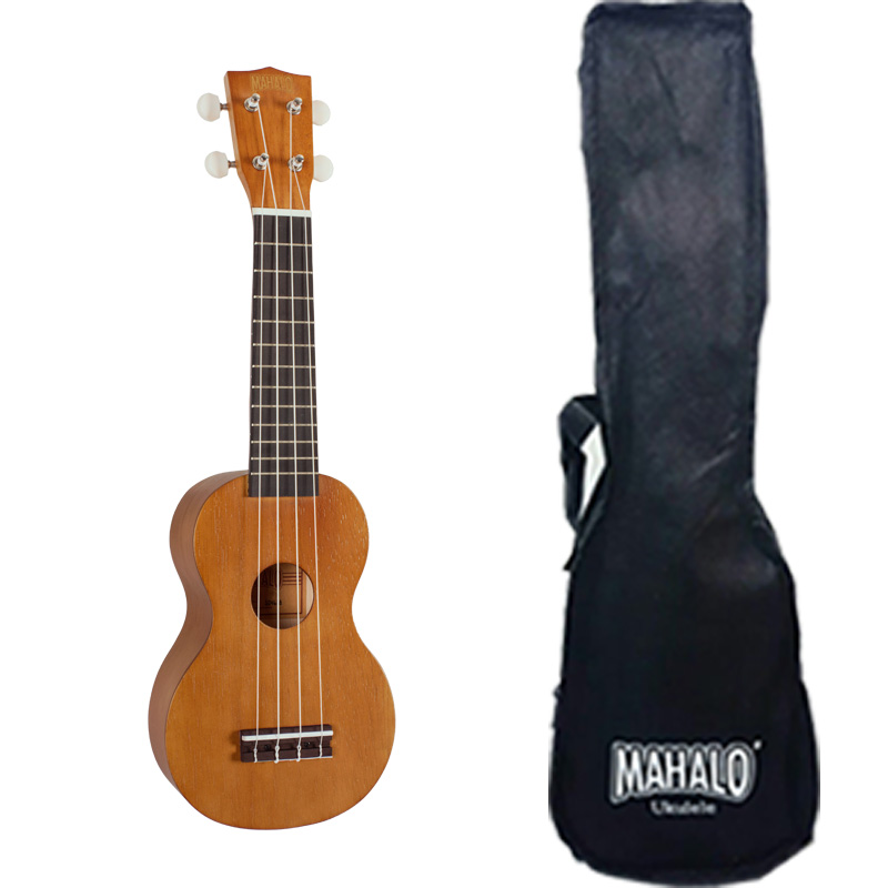 Mahalo MK1PWTBR Ukulele soprano with case, strings Aquila, wide neck, color Transparent Brown, series Kahiko Plus luxury brown 48 roller and fountain pens binder case holder pvc zipper free shipping