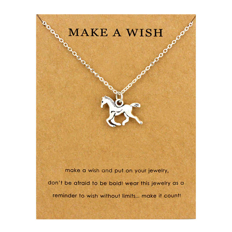 Horse Unicorn Animal Necklaces Lotus OHM Buddha Pendants Women Men Unisex Girl Handmade Fashion Trendy Jewelry Christmas Gift