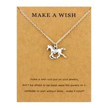 Horse Unicorn Animal Necklaces Lotus OHM Buddha Pendants Women Men Unisex Girl Handmade Fashion Trendy Jewelry Christmas Gift