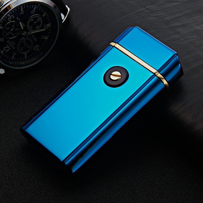 6pcs lot high quality 2017 USB arc lighter isqueiro with gift box for men LIGHTER smoke
