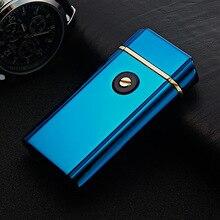 6ชิ้น/ล็อตที่มีคุณภาพสูง2017 USB arcเบาisqueiroกับของขวัญกล่องสำหรับผู้ชายเบาควันเครื่องมือบุหรี่windproofเบาสำหรับคน