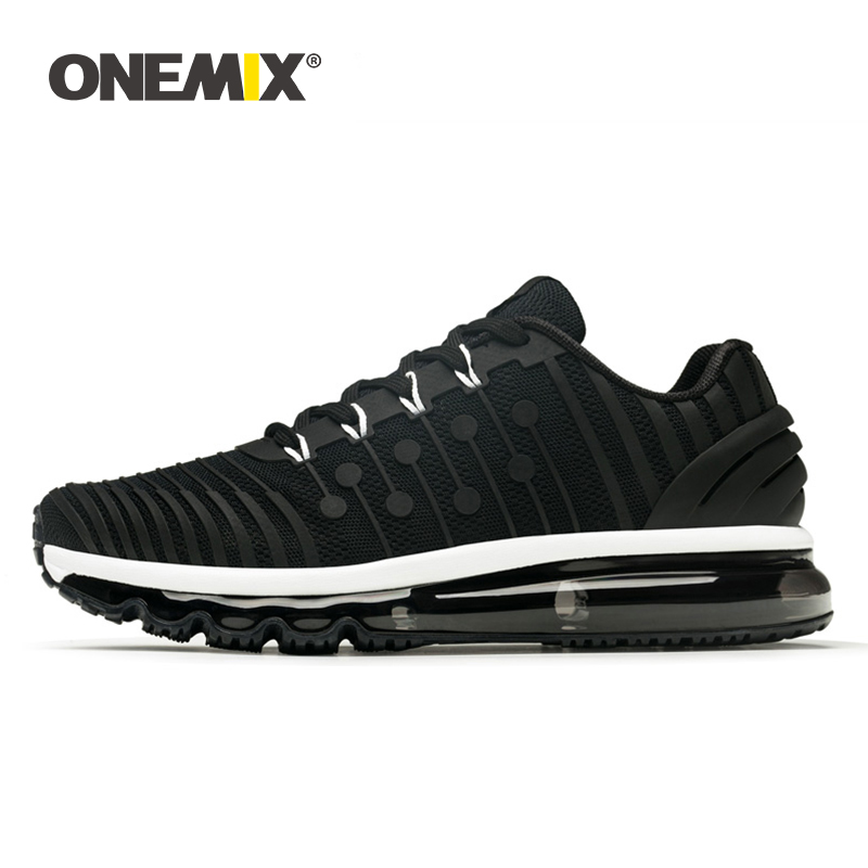 ONEMIX Running Shoes Men Sneakers High Top 2019 New Comfortable Shock Absorption Basket Sport Training Shoes Adult Male Big Size