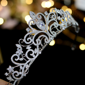 Image 1 - Classic love European zirconia tiara nupcial corona de cristal chapado vestido de novia con la novia accesorios para el cabello