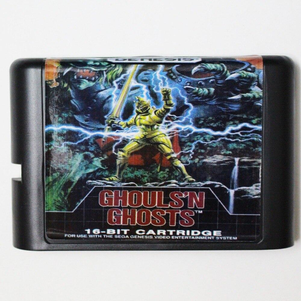 Ghoulsn Ghosts Game Cartridge Newest 16 bit Game Card For Sega Mega Drive / Genesis System