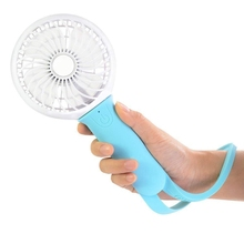 Hand Held Fan Portable Fan, Battery Operated Fan & Mini Fan With Led Light, Silicone, 3 Speeds Operation For Women, Outdoor Ca tiny portable hand held fan
