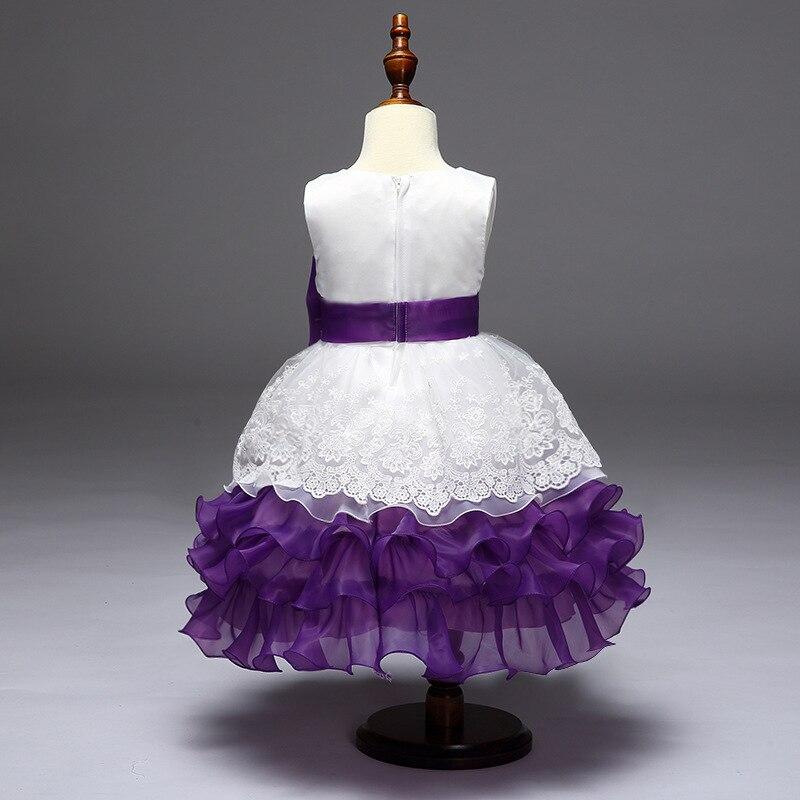 piękna wieczorowa sukienka dla dzieci Kids girl flower dress puff - Ubrania dziecięce - Zdjęcie 2
