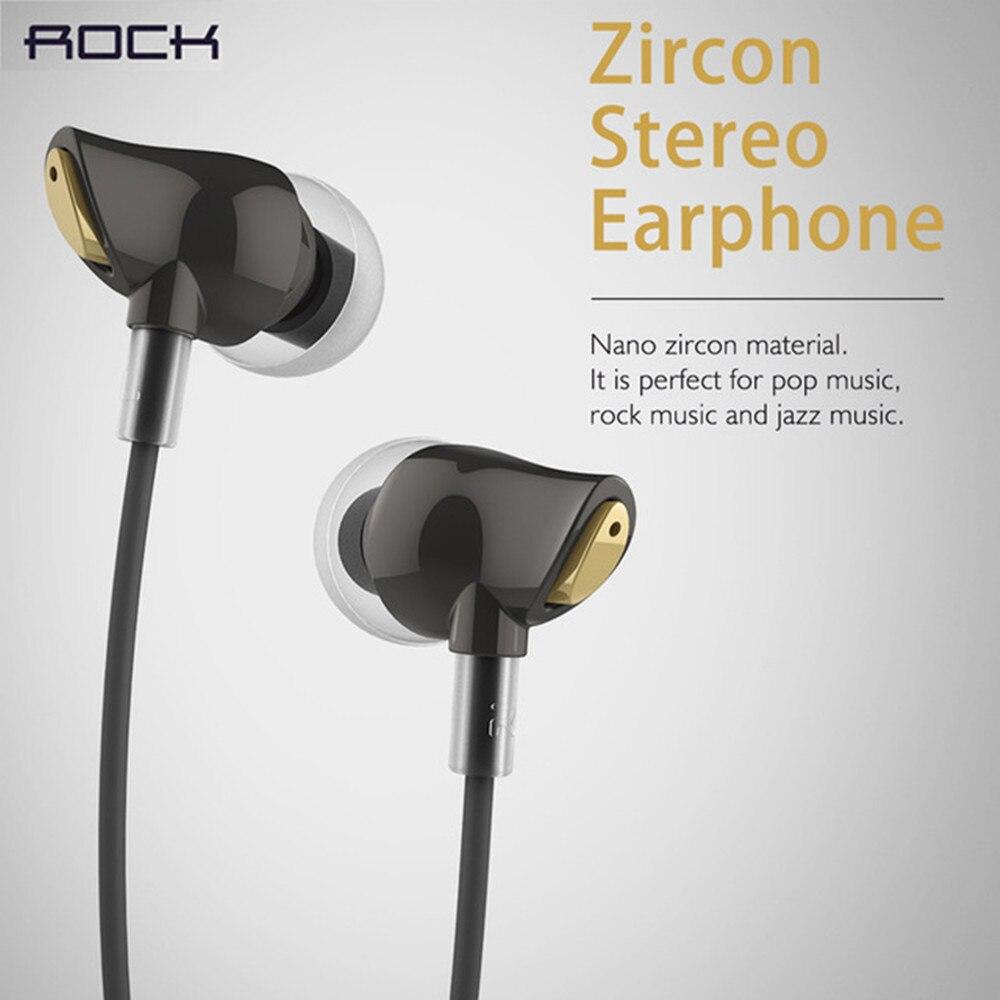 bilder für 100% Original Rock Zirkon Stereo Kopfhörer-kopfhörer Earbuds In-ohr Headset Kopfhörer Mit Micorphone Fernbedienung für Handy PC