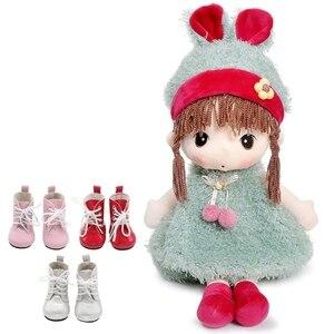 Image 2 - 1ペアのための18インチの人形ミニ人形の靴漫画の人形ブーツ人形sneackersアクセサリーホット販売7センチメートル