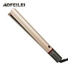 Профессиональный Выпрямитель для волос AOFEILEI, щипцы для завивки волос 2 в 1, Плойка для волос с покрытием, выпрямитель для волос, плоские Керамические Утюги