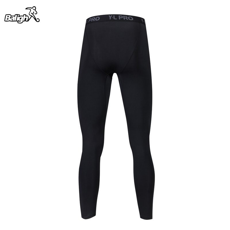 Balight New Men Fitness Leggings Summer Men Quick Dry Skinny Elastic Sporting Leggings Pants Fitness Clothing Black White W1
