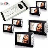 Smartyiba 7 дюймов монитор видеодомофон дверной звонок Крытый дверь визуальный телефон Системы Открытый безопасности дверной звонок 1 Камера 6 м