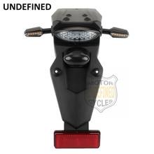 Светодиодный поворотники мотоцикл тормозной фонарь заднее крыло задний фонарь лампа для Honda Yamaha Kawasaki Suzuki KTM E8 Dirt Bike на заказ