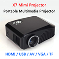 X7 Мини-Проектор Android 4.4 WI-FI 1000 Люмен 4 дюймов LCD FHD 1080 P поддержка 1920x1080 Проектор мультимедийный Проектор