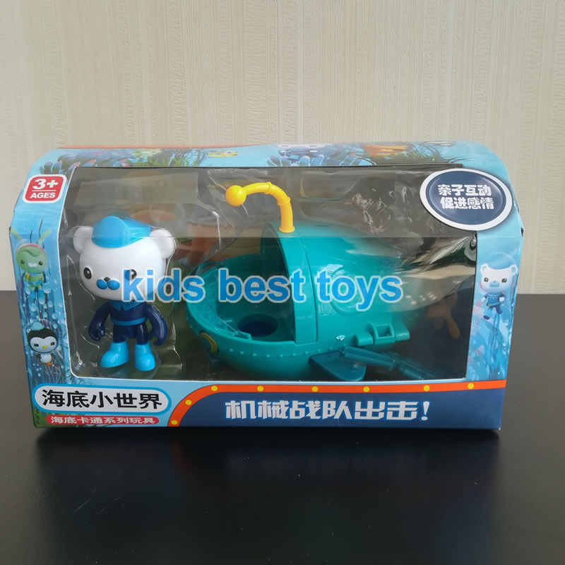Octonauts стрельба Billfish лодка игрушки капитан Barnacles Kwazi модели Детский Рождественский подарок