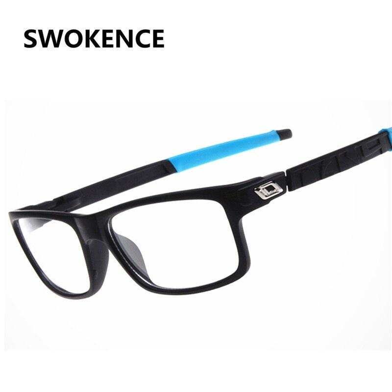 SWOKENCE Unbreakable Plain Glass Spectacles Men Women Fashion Design No Dioptre Glasses Open Air Prescription Eyewear Frame G487