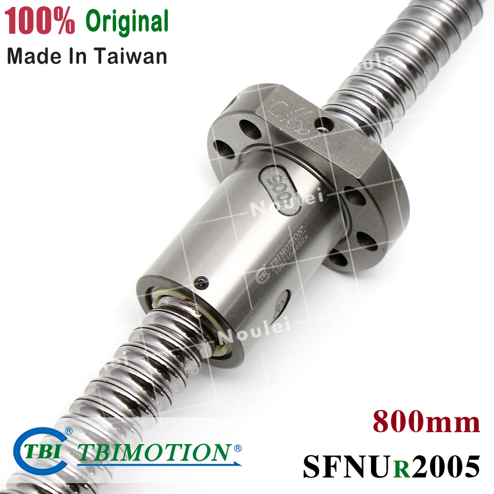 TBI MOTION 2005 Ball screw Length 800mm with SFNU2005 Ballscrew Nut SFS2005  SFI2005 SFV2005 SFU 2005 TBI MOTION 2005 Ball screw Length 800mm with SFNU2005 Ballscrew Nut SFS2005  SFI2005 SFV2005 SFU 2005