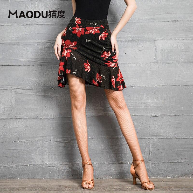 Fashion Costumes Modern Ruffle Irregular Sexy Latin Dance Short Skirt For Woman/female,Ballroom Practice Performance Wear MD9300