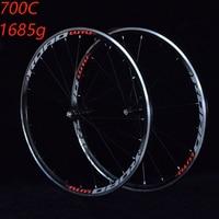 Bike wheelset Road Bicycle wheelset 700C Sealed Bearing ultra light Wheels Wheelset Rim support 1685g