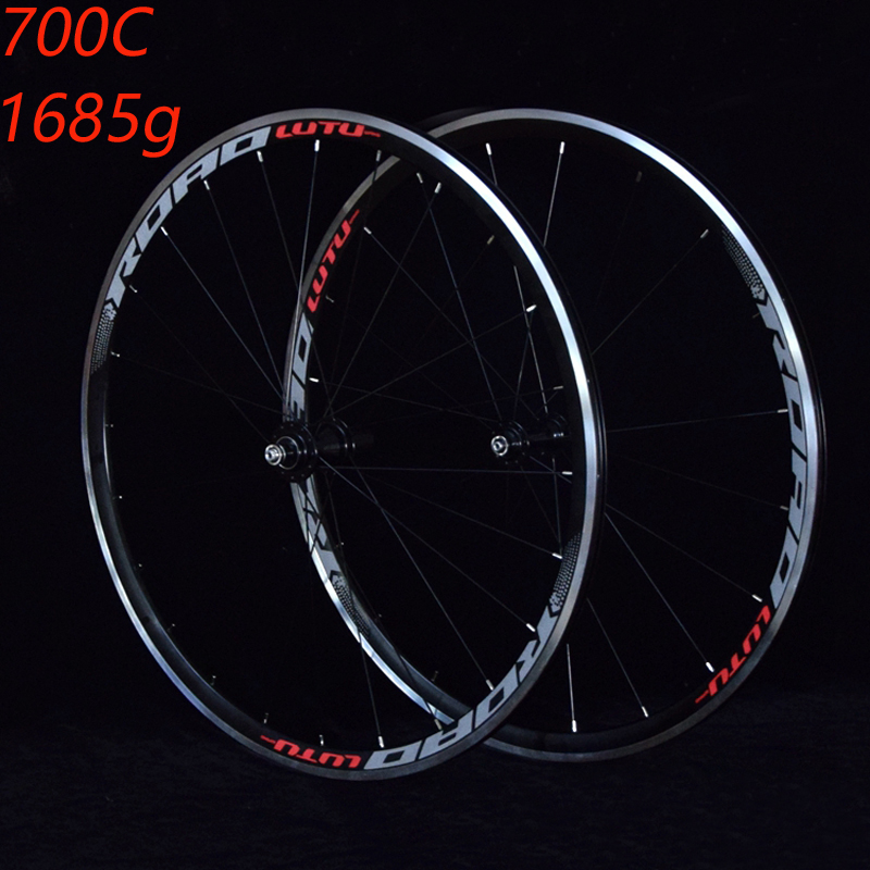 все цены на Bike wheelset Road Bicycle wheelset 700C Sealed Bearing ultra light Wheels Wheelset Rim support 1685g