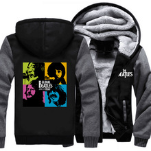 Winter Men's Hooded  The Beatles Mens Casual Brand Hoodies Clothing Winter Thickened Warm Coat Male S-5XL Sweatshirts Outwear