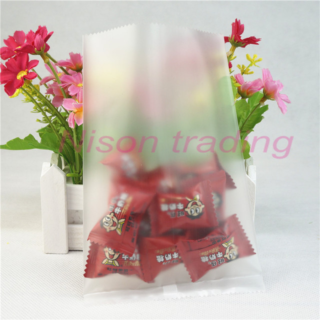 Ping Pocket 100pcs Matte Clear Plastic Bags Surface Frosted Transpa Flat Bag Heat Seal Pouch
