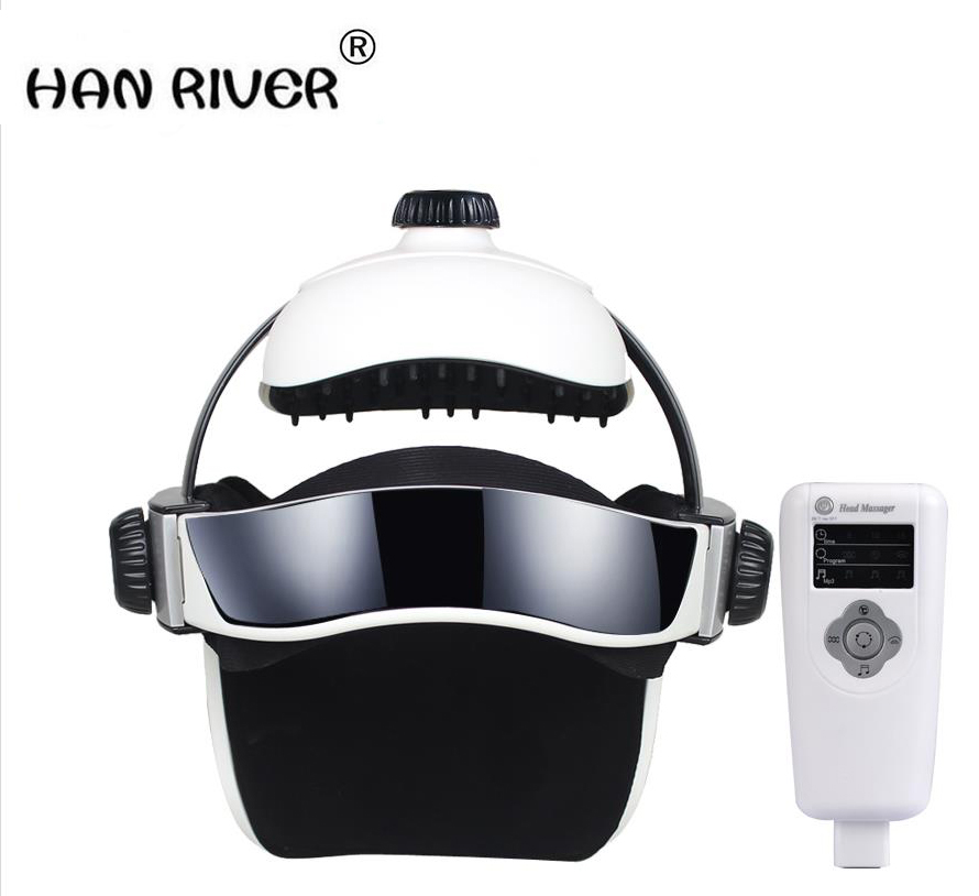 HANRIVER Music electric Head and scalp massager brain massage improves sleep Body vibration machine Massage pillow massager vibrating head massager music electric head and scalp massager brain massage improves sleep body vibration machine massage