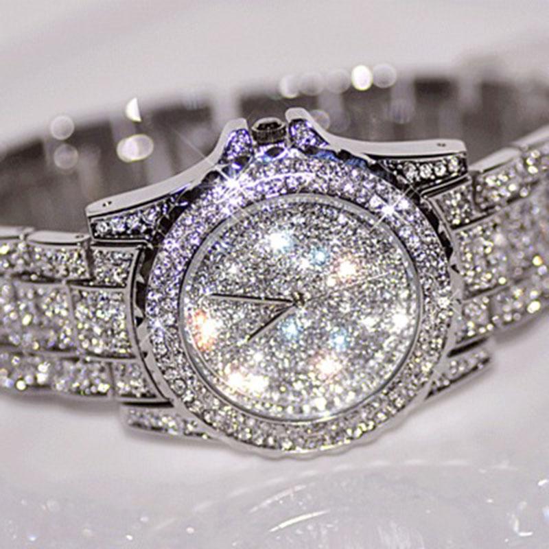 Prix pour Hotest Ventes Femmes Montres De Mode Diamant Robe Montre de Haute Qualité De Luxe Strass Dame montre À Quartz Montre-Bracelet de baisse