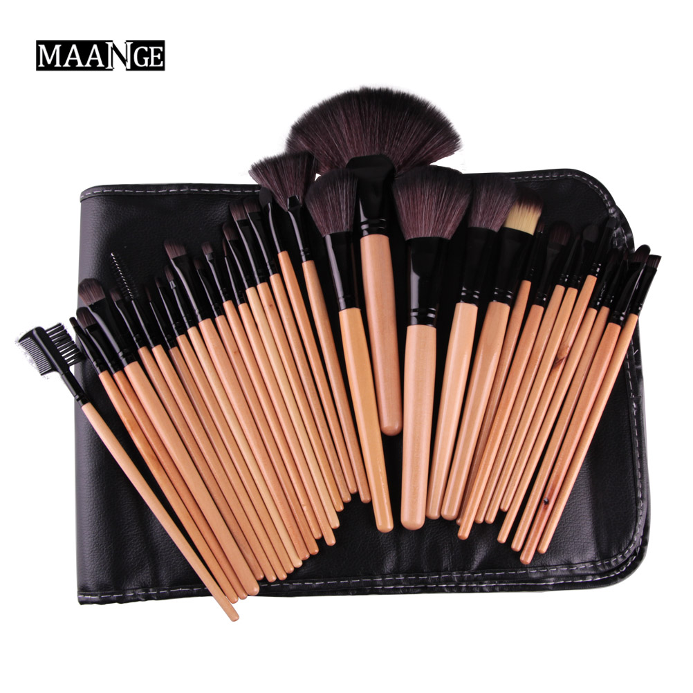 Professional 32Pcs/set Makeup Brushes Kits Cosmetic Beauty Tools Power Foundation Eyes Shadow Blending Face Brushes & Bag 8pcs professional makeup brushes set foundation blending brush tool cosmetic kits makeup set beauty essentials makeup brusher