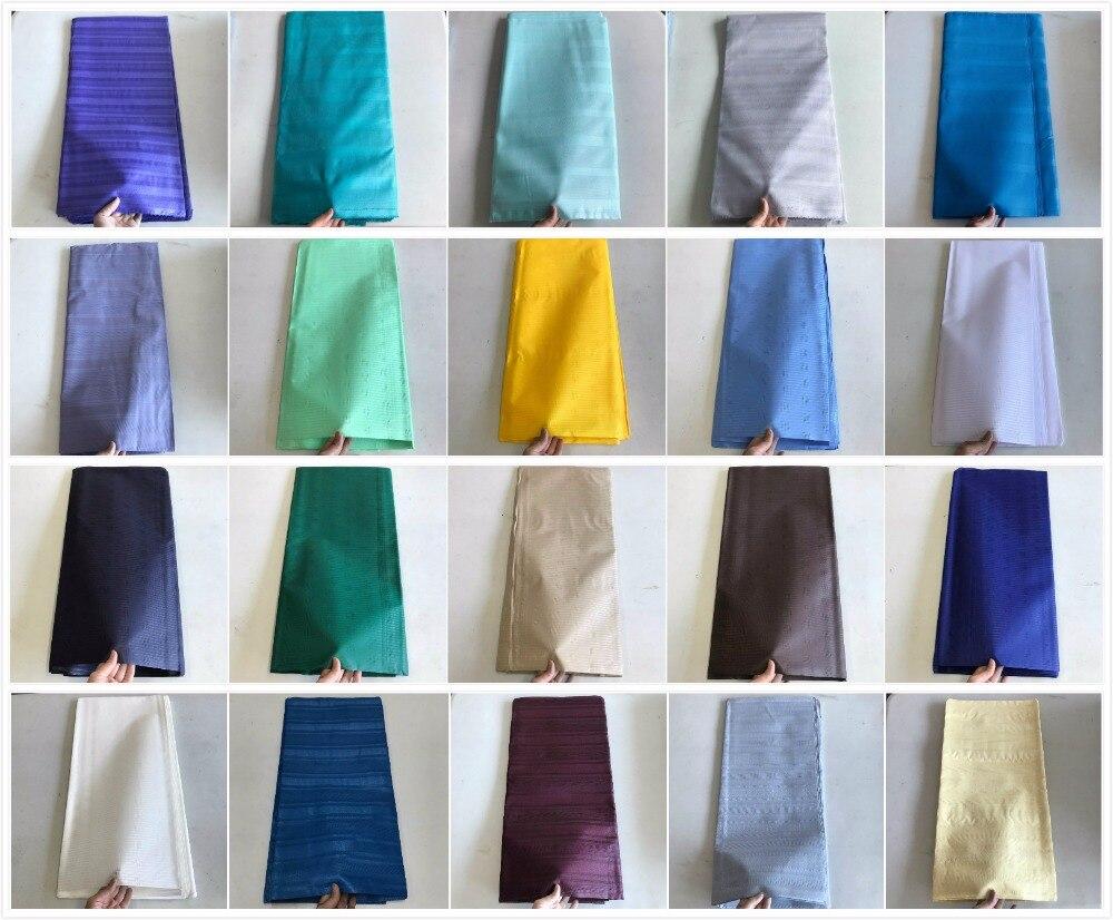 Nouvelle Couleur Nigeria Réel Coton Atiku Dentelle Pour Hommes Tissu Atiku Tissu 5 Mètres une pièce Atiku Matériel Pour Hommes 30