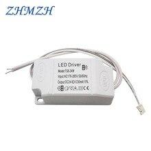 Driver de corrente constante de led 8 24w 230ma dc, fonte de alimentação de saída 176 265v, iluminação de entrada ac transformador para luzes de teto led