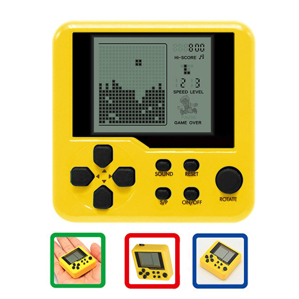 Mini Tetris Handheld Game Console Portable LCD Players Educational Electronic Children Toy Classic Game Player