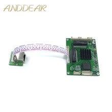工業用グレードのミニ 3/4/5 ポートフルギガビットスイッチ変換に 10/100/1000 Mbps 転送モジュール機器弱いボックススイッチモジュール