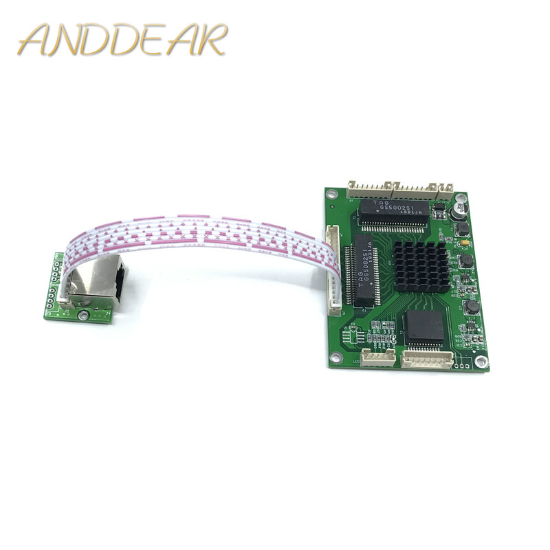 Industrial grade mini 3/4/5 port full Gigabit switch to convert 10/100/1000Mbps Transfer module equipment weak box switch module-in Network Switches from Computer & Office