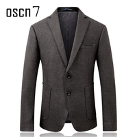 Oscn7 2017 New Solid Twill Slim Fit Blazer Mens Formal Wedding Groomsman Suit Jacket Men Two Button Men's Suits and Jackets