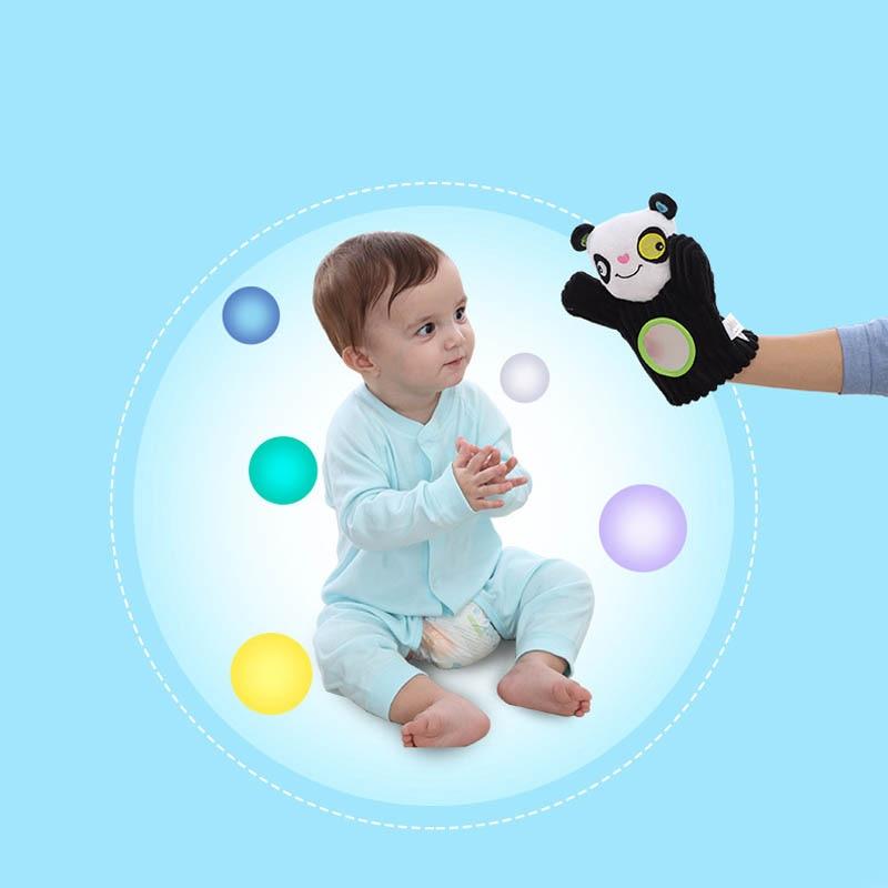 Счастливые и милый животных перчатки кукольный Дети головоломка Игрушечные лошадки и раннего обучения просвещения образование реквизит И...