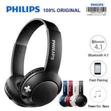 original Philips SHB3075 Bluetooth Headset Earphone Wireless Headphones Volume with Mic Control for Iphone X Galaxy Note 8(China)