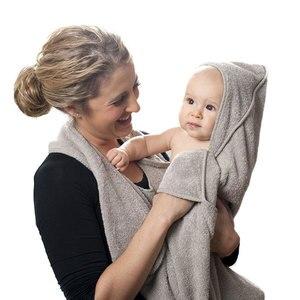 Image 1 - 90CM * 90CM czesana bawełna ręcznik kąpielowy z kapturem fartuch ręcznik wysokiej jakości chłonne dzieci chusteczki z kapturem ręcznik kąpielowy